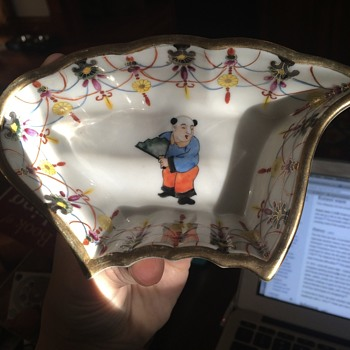 Strange Hand Painted Japanese Porcelain Bowl