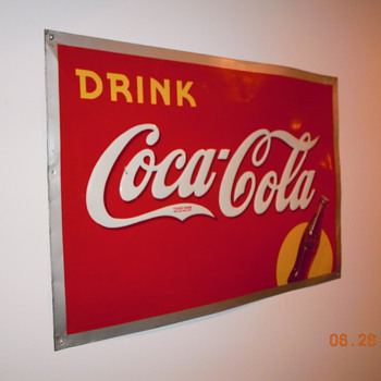 "1940, 20""x28"", Coca-Cola Tin Sign"