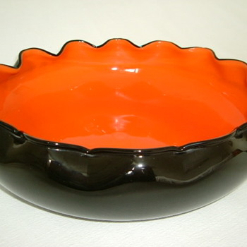 Kralik Art Deco Tango Glass Bowl