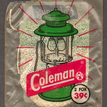 1950's - Coleman Lantern Mantle - Outdoor Sports