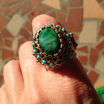 Possible jade ring? - Costume Jewelry