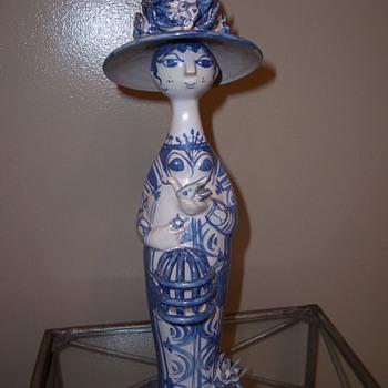 "Bjorn Wiinblad ""Spring"" Statue - Art Pottery"
