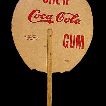 Coca-Cola Chewing Gum Fan - Coca-Cola