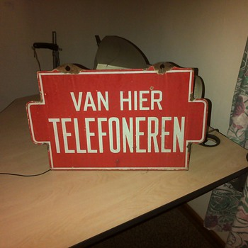 High Dutch telephone sign