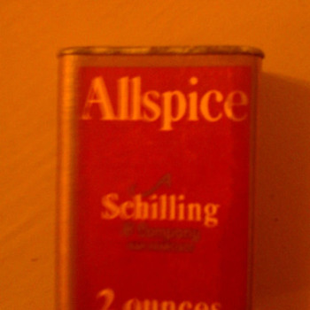 3 schilling spice tins (allspice, cream of tartar, mace) see link for details - Kitchen