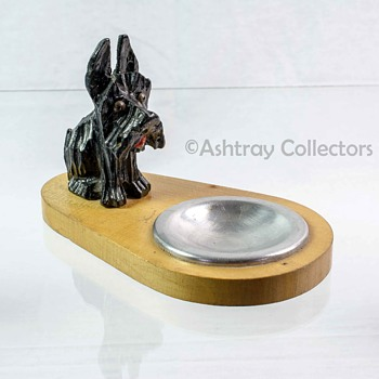 Scottie Dog Wood Ashtray