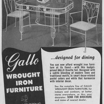 1950 Wrought Iron Furniture Advertisements - Advertising