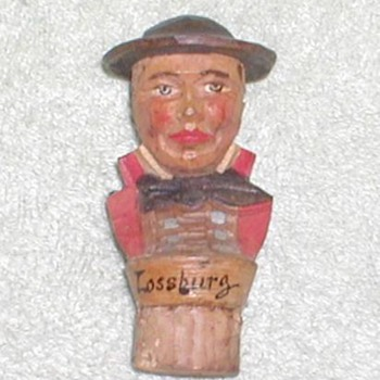 Carved Cork - Lossburg - Folk Art