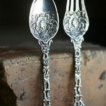 baroque style spoon & fork from Italy