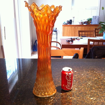 Funeral Vase Fenton? Carnival? Rare?