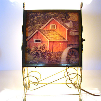 TV Lamp with Mill Scene - Lamps