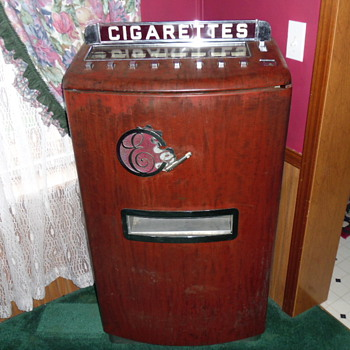 My Vintage Cigarette Machine - Coin Operated