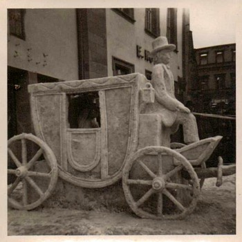 1950's Photos - Snow Sculpture in Heidelberg Germany