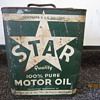 1930's-1940's Star Motor Oil Citrin-Kolb Co. Detroit MICH 2 Gallon Can