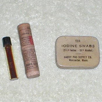 Iodine Swab Tin &amp; Applicator Vial - Advertising