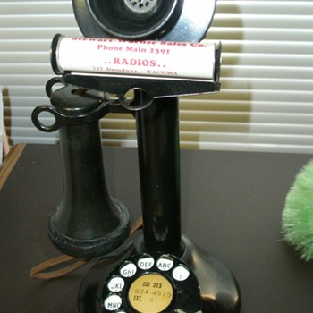 Telephone Candlestick or Wall Phone Attachment