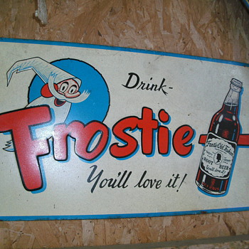 Frostie Root Beer Sign - Advertising