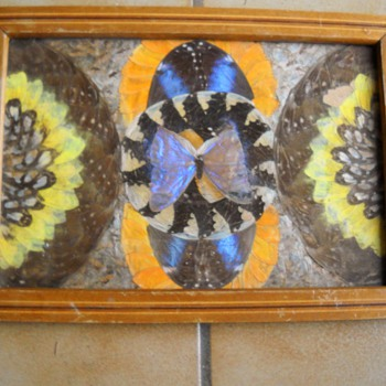 Vintage Deco Butterfly Tray