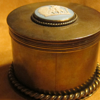 "TIFFANY gilt bronze Dresser Box ""Wedgwood"""