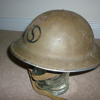 British WWII steel combat helmet