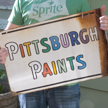 Pitsburgh Paints... Smooth as glass.  - Signs