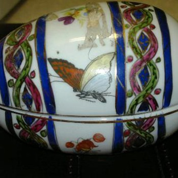 KPM Handpainted Porcelain Egg - China and Dinnerware