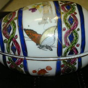 KPM Handpainted Porcelain Egg