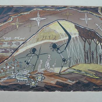 BYRAM MANSELL (1899 – 1977) SIGNED PRINT