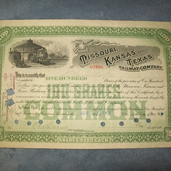 More Railraod stock certificates.