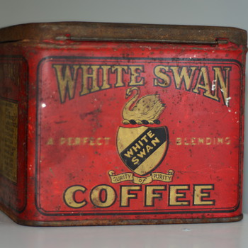 RARE, very early 1900's White Swan Coffee Tin - Advertising