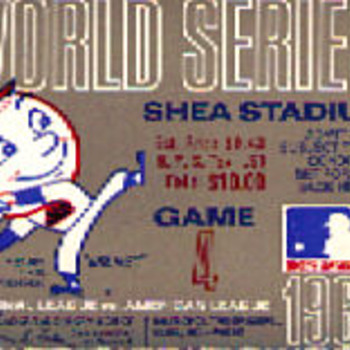 NY METS 1969 World Series Game 4 Ticket stub - Baseball