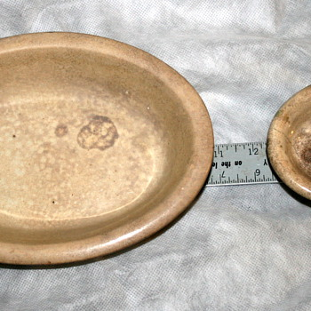 MY 2 Antique Marble Soap Dishe Finds - China and Dinnerware
