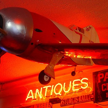 "Old Radio Control Airplane...Lucky "" 7 "" Gee Bee Super Sportster"
