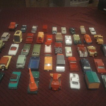 Matchbox cars...  We're still kids at heart.