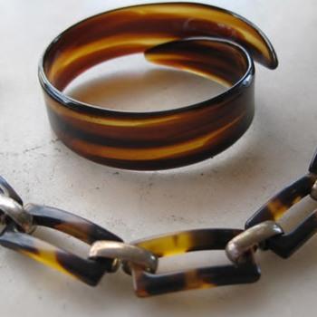 Faux tortoiseshell bracelets