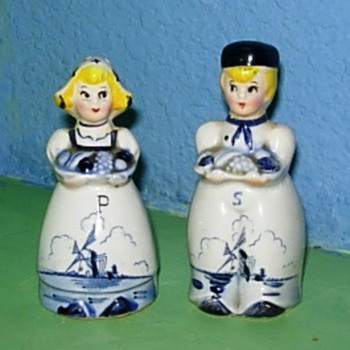 Not so delft salt and pepper shakers