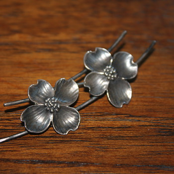 Sterling Silver Dogwood Brooch - Fine Jewelry