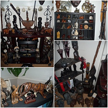 My Dust and Cobweb Collections.....lol - Folk Art