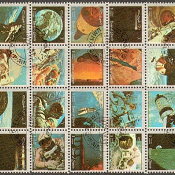 "1972 - Umm Al-Qiwain ""Space Mission"" Postage Stamps"