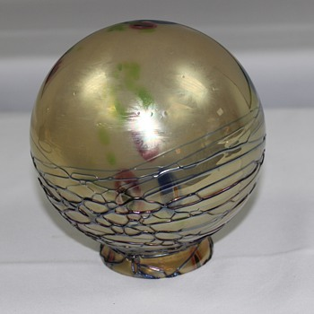 Globe shade  unknown maker - Art Glass