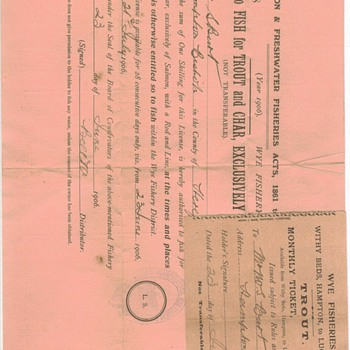 Old Great Britain Fishing License - Fishing