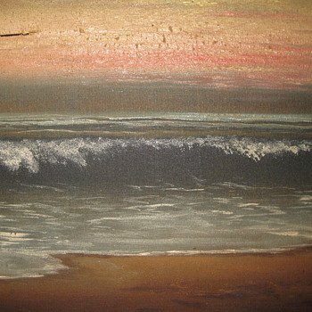Oil painting from the St. Regis, Long Beach, CA - Arts and Crafts