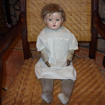 victorian doll with leather hands - Dolls
