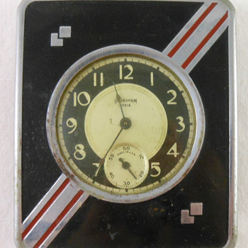 1930's Art Deco Travel Pocket Watch  - Pocket Watches