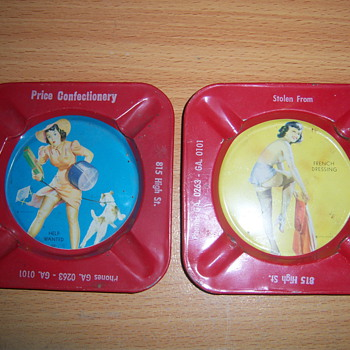 1940'S?? Advertising Ash Trays - Advertising