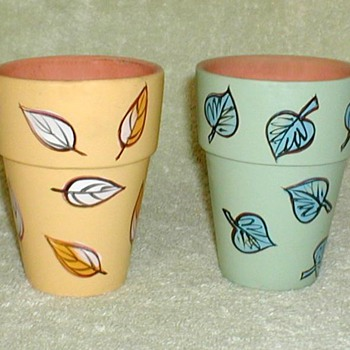 New England Pottery Mini-Planters - Art Pottery