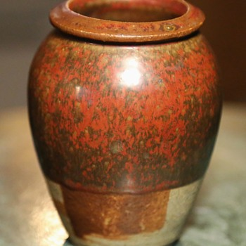 Strange little Urn with Great Glaze!