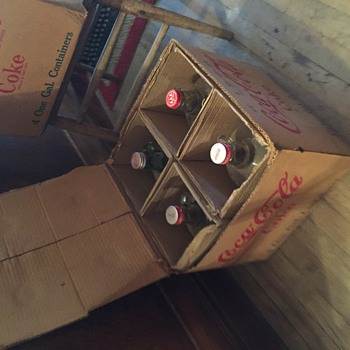 1953 Coke Syrup bottles in box