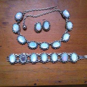 Interwar period Moonstone Jewellery Set - Fine Jewelry