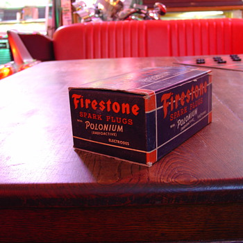Firestone Spark Plugs...Never Used...Box Of Ten...Dated Oct. 26. 1949 - Tools and Hardware